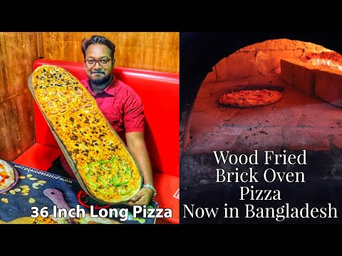 Xxx Mp4 বাংলাদেশে প্রথম ৩ ফুট লম্বা পিজ্জা Wood Fried Brick Oven Pizza Bangladeshi Food Reviewer 3gp Sex