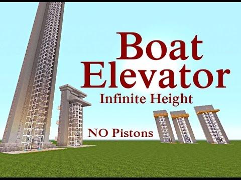 Minecraft Tutorial : Boat Elevator NO Pistons & Any Height
