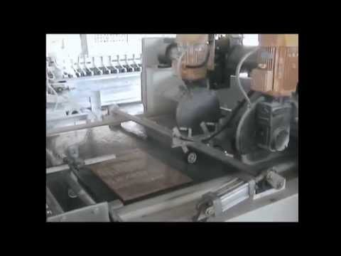 Production of stone tiles