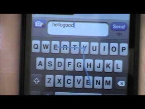 How to get Swype texting on iphone like on an Android Phone