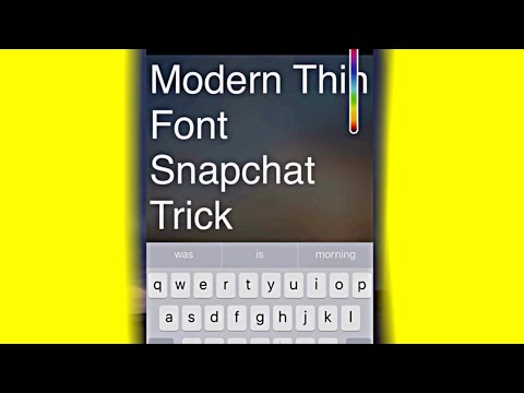 Ultra Thin Snapchat Font Trick (January 2018) How to Change Big Font on Snapchat