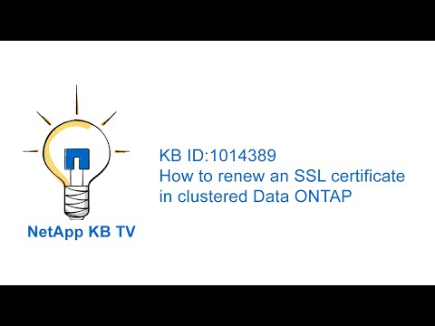 How to renew an SSL certificate in clustered Data ONTAP