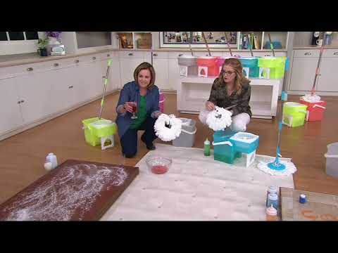 Clean Spin 360 Wet or Dry Microfiber Mop & Spin Dry Bucket System on QVC