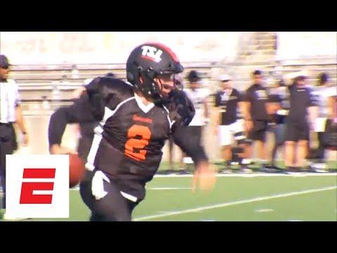 Johnny Manziel scrambles for pair of Spring League touchdowns | ESPN