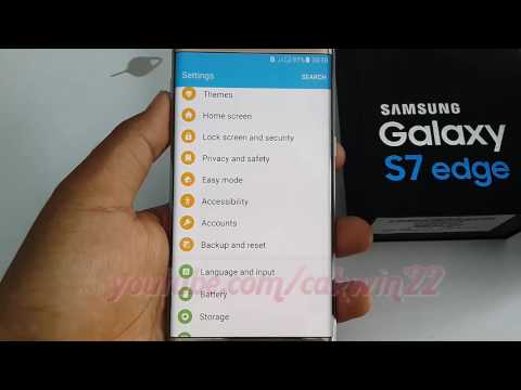 Samsung Galaxy S7 Edge : How to reset network settings