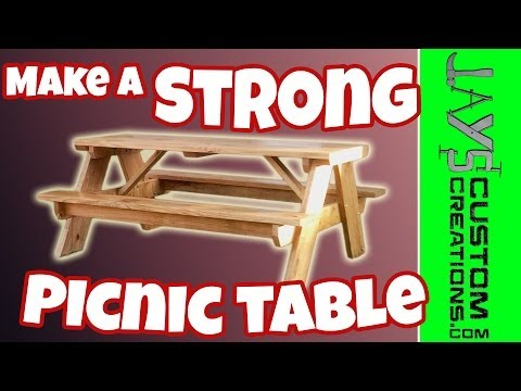 How To Build a Picnic Table - 084