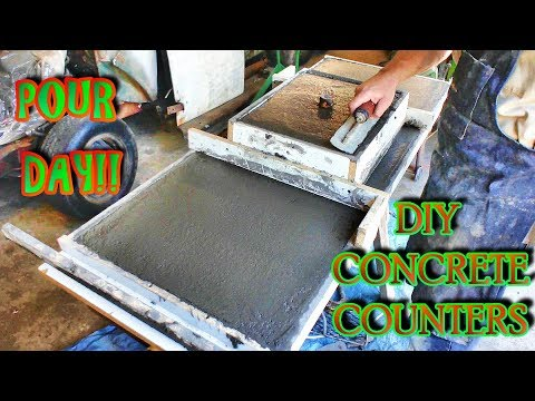 HOW TO mix, pour and finish your own counters; Complete guide to DIY Concrete Countertops