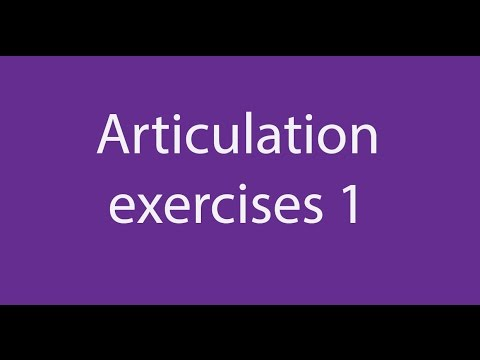 Articulation Exercises (1): Speak with a Standard British English Accent