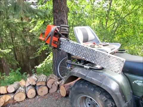 atv chainsaw carrier or holder