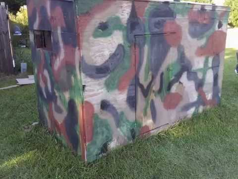My 4x8 hunting blind