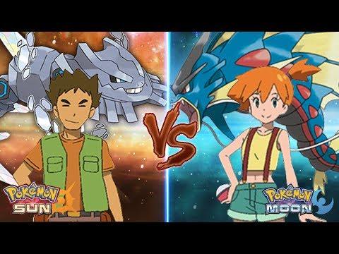 Pokemon Sun and Moon: Brock Vs Misty (Mega Steelix Vs Mega Gyarados)