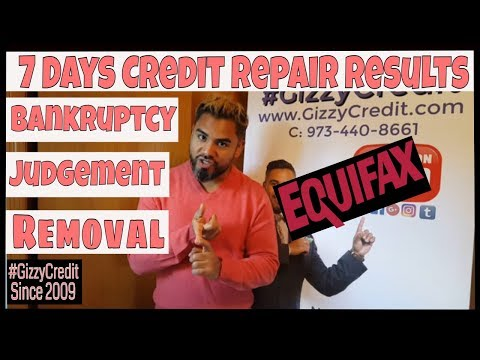 MUST WATCH!! In 1 week removed Bankruptcy and Judgement from Equifax  #GizzyCredit