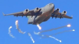 A-10 Thunderbolts & C-17 Globemasters In Action - Joint Forcible Entry