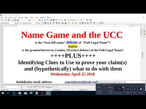 NAME GAME and the UCC