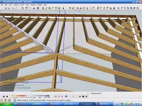 Model and Measure Hip Rafters De-mystified by Modeling in SketchUp Part B.wmv