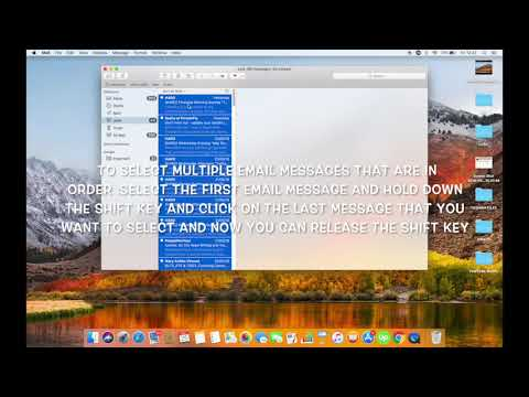 HOW TO SELECT MULTIPLE MESSAGES IN MAC MAIL