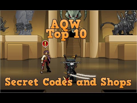 AQW Top 10 Secret Codes and Shops 2018