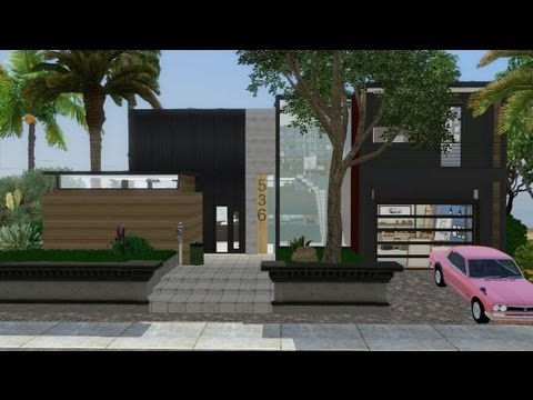 Sims 3 - Modern Beach House featuring MarcussSims91 + DOWNLOAD