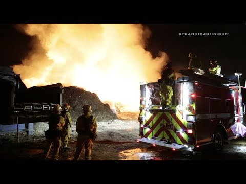Jurupa Valley: Large Fire at Recycling Center