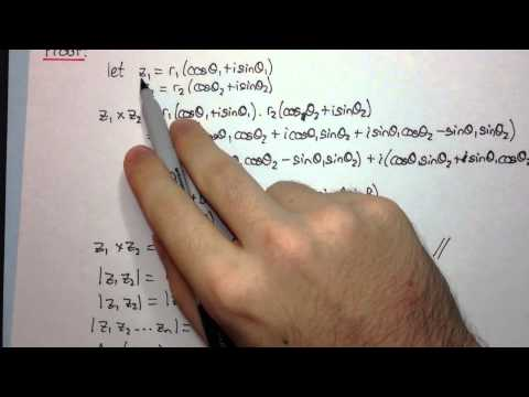 HSC Maths Ext2 - Complex Numbers - Product and Quotient in Modulus-Argument Form