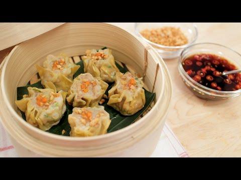 Shumai | Shrimp & Pork Dumplings Recipe | Kanom Jeeb ขนมจีบ - Hot Thai Kitchen!
