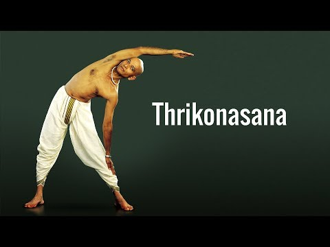 Thrikonasana, the triangle posture in Yoga