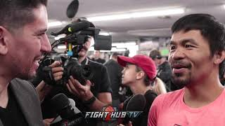 MANNY PACQUIAO FEELS HE CAN BEAT ERROL SPENCE W/HIS SPEED & POWER; MAYWEATHER REMATCH UP TO FLOYD