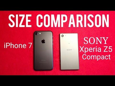 iPhone 7 vs Sony Xperia Z5 Compact Size Comparison | Quick