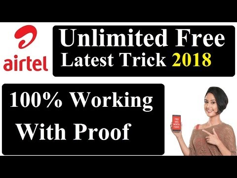 Unlimited Airtel Free Internet 2018 For Lifetime With Proof 4G,3G,2G