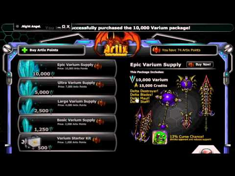 Getting Delta Weapons + Free Varium With 10k BattleOn Points :: EpicDuel