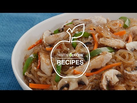 Orange Ginger Chicken on Shirataki Noodles