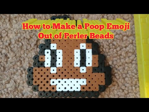 How to Make a Poop Emoji Out of Perler Beads