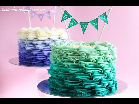 Buttercream Ombre Cake Tutorial