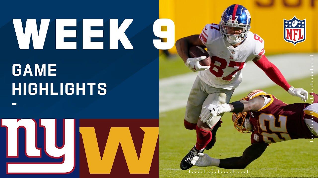 Giants vs. Washington Football Team Week 9 Highlights | NFL 2020