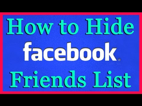 How to Hide Friend List On Facebook | Voice Tutorial