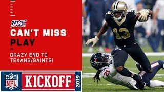 CRAZY END to Texans/Saints!