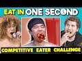 Try To Eat In 1 Second Challenge Competitive Eating