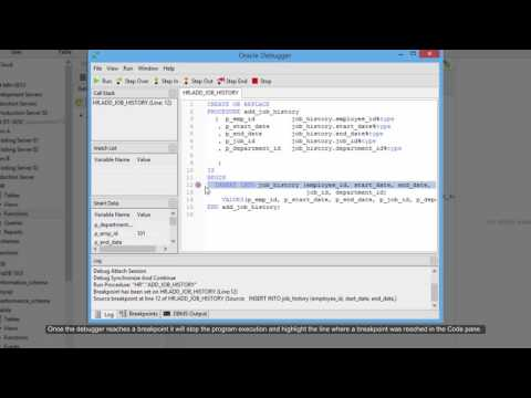 How to debug Oracle queries, procedures and functions in Navicat's debugger? (Windows & Linux)