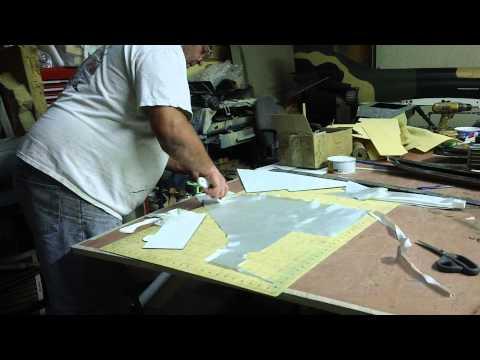 cutting fiberglass late at nite