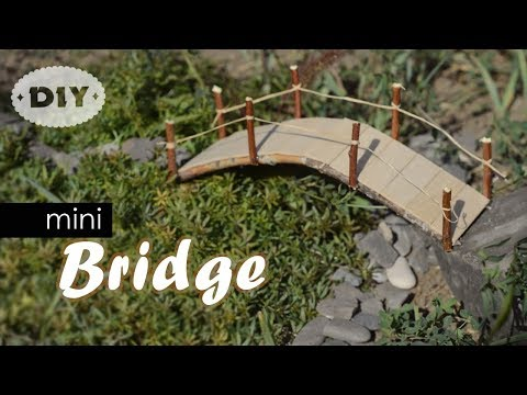 DIY Mini Bridge | How To Make Mini Popsicle Sticks Bridge