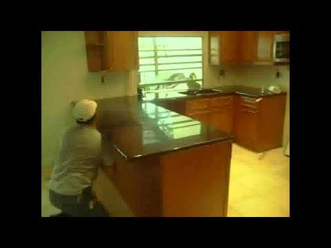 How to Install  pre fabricated granite countertop