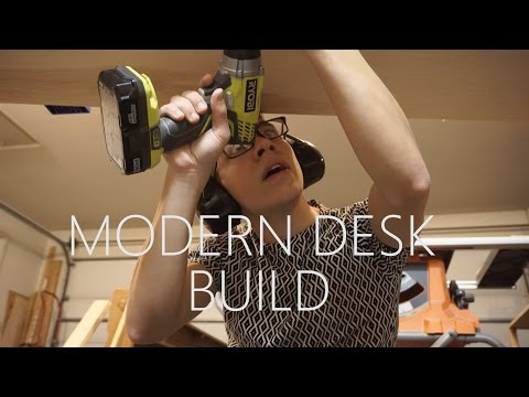 Building a Modern Desk with Plywood