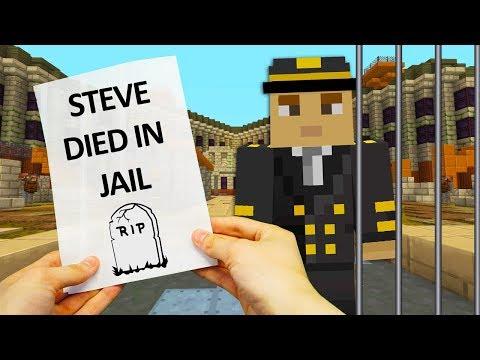 REALISTIC MINECRAFT - STEVE ALEX AND PET NITRO ESCAPES FROM PRISON 🔫