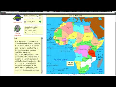 Sheppard Software Africa Map   Campus Map