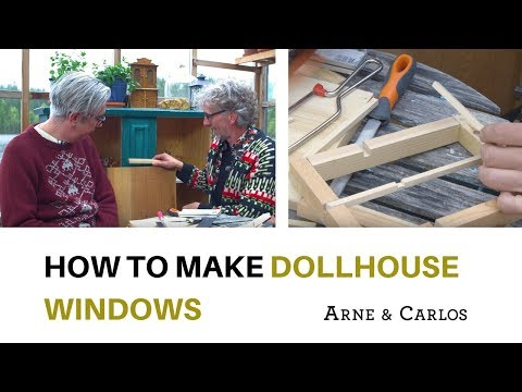 The dollhouse by ARNE & CARLOS. Part 2  How to make windows