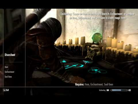 Skyrim How to level your Enchanting to 100 FAST. Tip for 360/PS3/PC