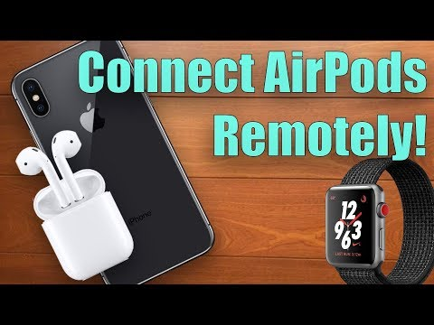 Connect AirPods to iPhone Remotely Using Apple Watch!