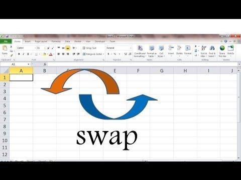 How to swap values in 2 cells in Microsoft Excel