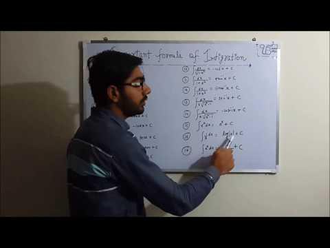 class 12 maths integration formulas very important