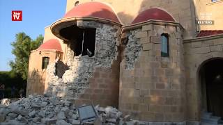 Video shows damage by Turkey and Greece quake